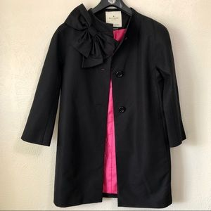 Kate Spade Dorothy Coat with Bow Pink Lining XS